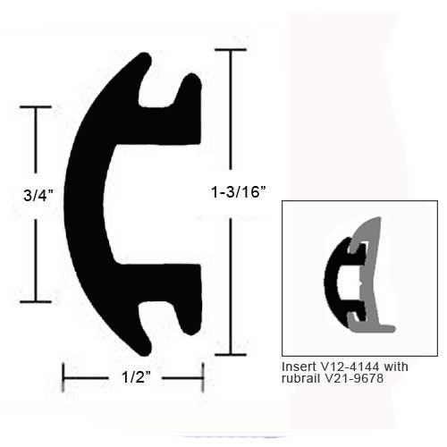 TACO Flexible Vinyl Insert - 1-3/16 H x 1/2 W Sale $169.99 SKU: 10725182 ID# V12-4144BKA70-1 UPC# 630838019198 :