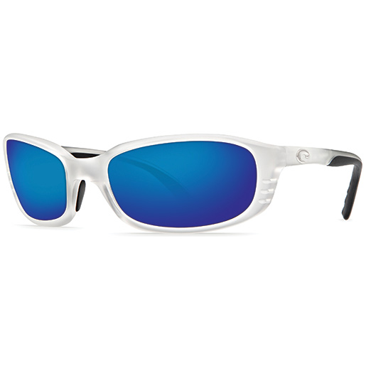 Brine Sunglasses, Crystal Frames with Costa 580 Blue Mirror Glass Lenses