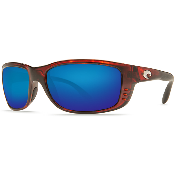 Men's Zane Sunglasses, Tortoise Frame with Costa 580 Tortoise/blue Mirror Glass Lenses Sale $239.00 SKU: 13083340 ID# ZN 10 OBMGLP UPC# 97963468374 :