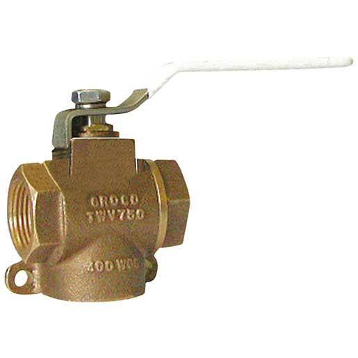 Apollo Valves Three-Way Diverter Valve, 1-1/2 Thread Size