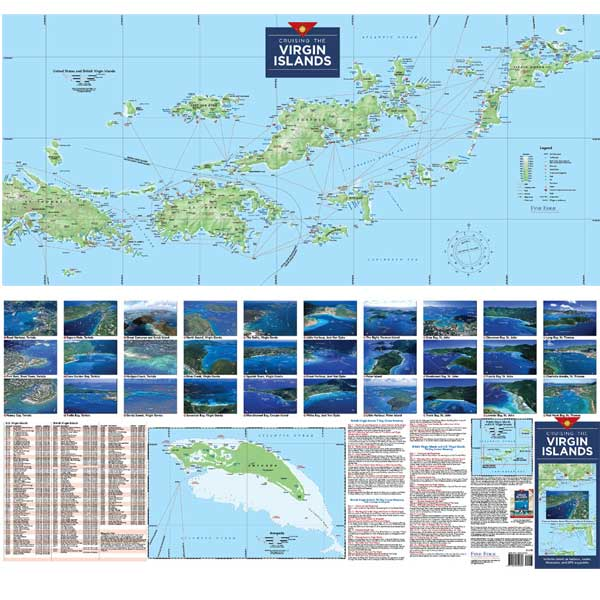 Fine Edge Cruising the Virgin Islands Folded Planning Map