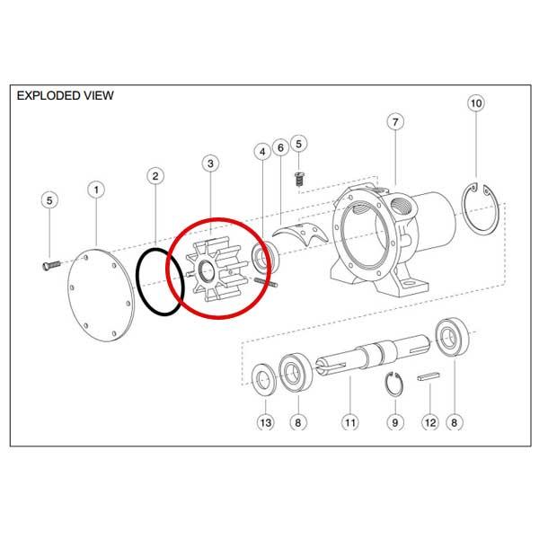 Rule Industries Impeller Kit Sale $69.99 SKU: 108029 ID# 90020-0003 UPC# 671880042352 :
