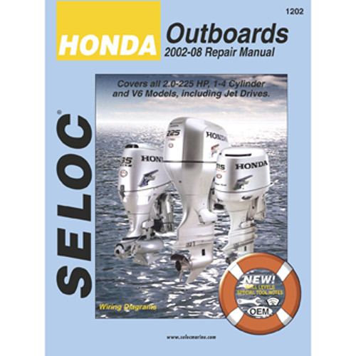 Seloc Marine Repair Manual - Honda Outboards 2002-08