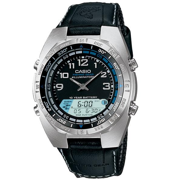 Casio men 39 s fishing timer watch west marine for Casio pathfinder fishing watch