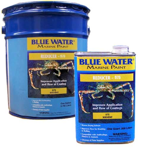 Blue Water Marine Paint Reducer/Thinner #975 5Ga. Commercial/Industrial Only