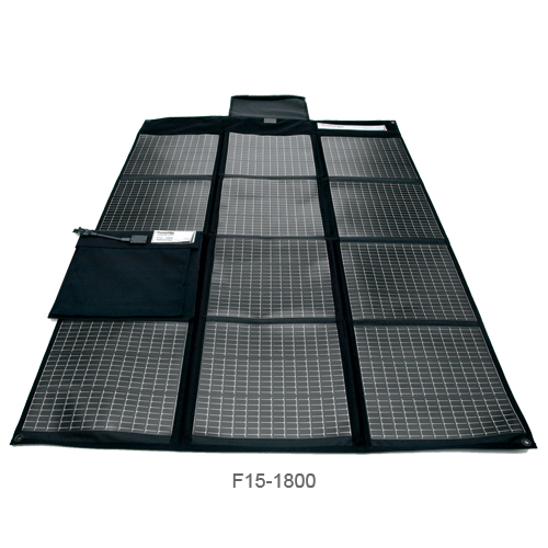 Powerfilm Folding Solar Charger, 30W, 1.8A Max. Amps, 41.3L x 31.7W Unfolded, 10.5L x 9.5W x 1.3H Folded