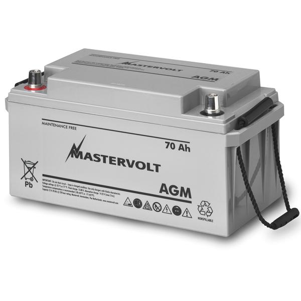 Mastervolt AGM 12/70 12V AGM, Group 27, 70 Ah, 615 CCA, 13 11/16L x 7 1/8W x 6 5/8H, Weighs 49lb. Sale $259.99 SKU: 10976371 ID# 62000700 UPC# 852968002165 :
