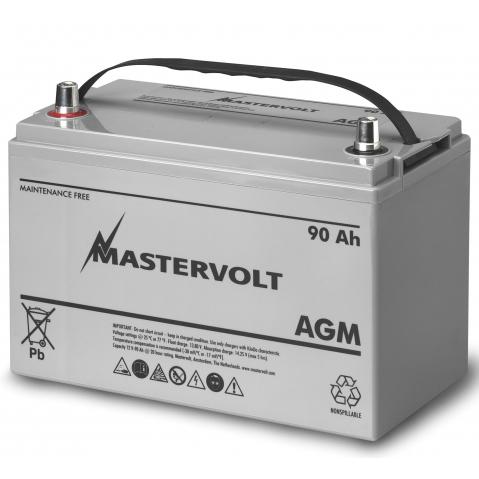 Mastervolt AGM 12/90 12V AGM, Group 31, 90 Ah, 850 CCA, 13 1/8L x 9 5/16W x 6 13/16H, Weighs 62lb. Sale $319.99 SKU: 10976389 ID# 62000900 UPC# 852968002172 :