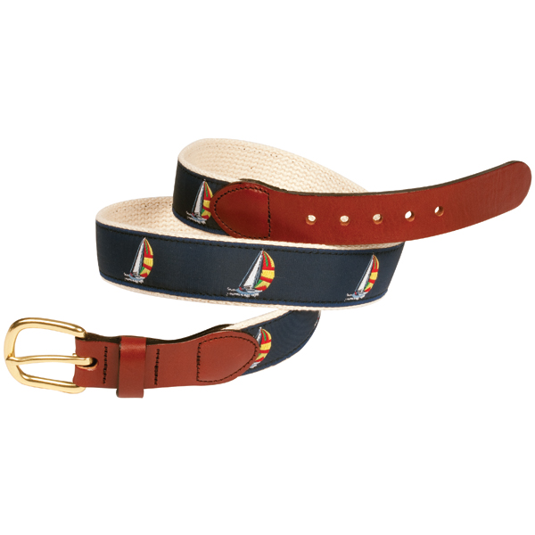 Leather Man Cotton Web Belt with Spinnaker Motif, Brown, 36 Sale $34.99 SKU: 10978625 ID# SPINNAT36 UPC# 610812048130 :
