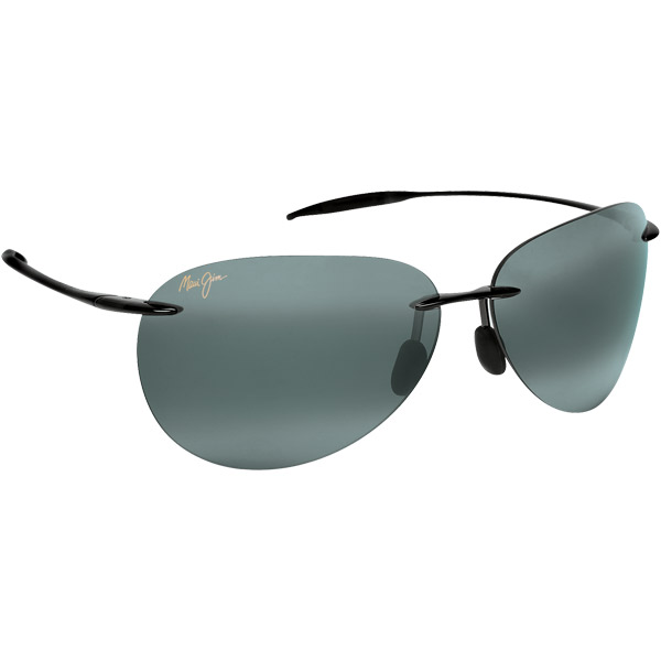 Maui Jim Sugar Beach Sunglasses, Glossy Black/gray Frames with Neutral Gray Lenses