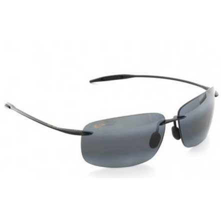 Maui Jim Breakwall Sunglasses, Gloss Black Frames with Neutral Gray Lenses Gray