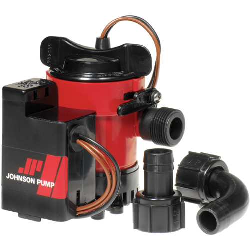 Johnson Pump 1000 gph Automatic Bilge Pump, 3.2A @ 12V DC Draw Sale $99.99 SKU: 11006913 ID# 5903 UPC# 729321059039 :
