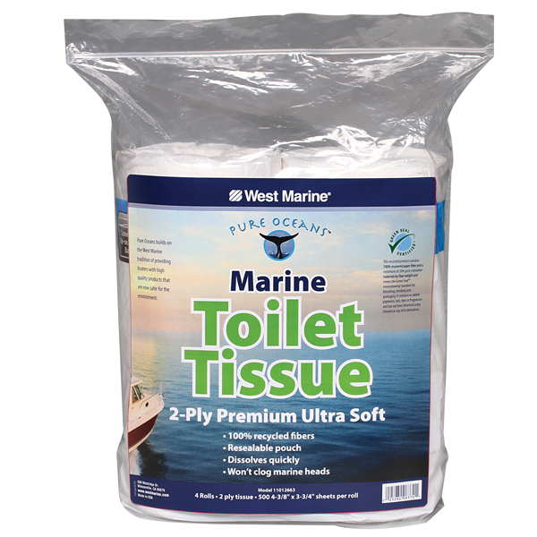 Pure Oceans Toilet Tissue 4 Pack 2 Ply West Marine