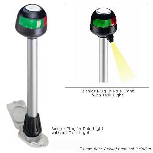 Aqua Signal 12 Bicolor Plug-In Pole Light with Task Light