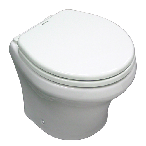 Sealand 24V Low-Profile Electric Toilet, 15H x 14-3/4W x 18-3/8D