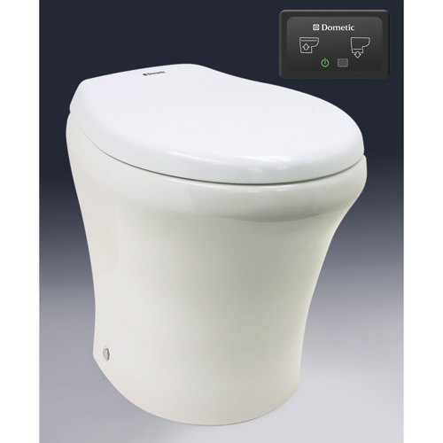 Sealand 24V Electric Toilet, Short, 14.75H x 14.75H x 18.25D