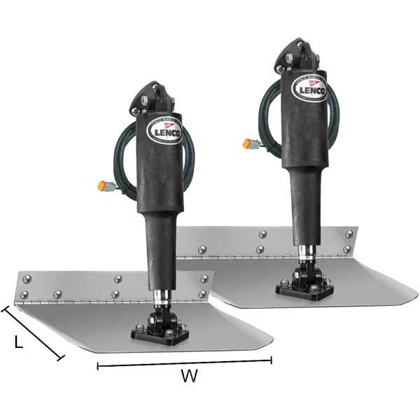 Lenco Marine Standard Mount Trim Tab Kit - 12 x 18