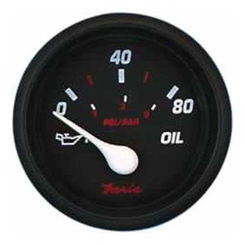 Faria Instruments Oil Pressure Gauge - Professional Red - 80 PSI