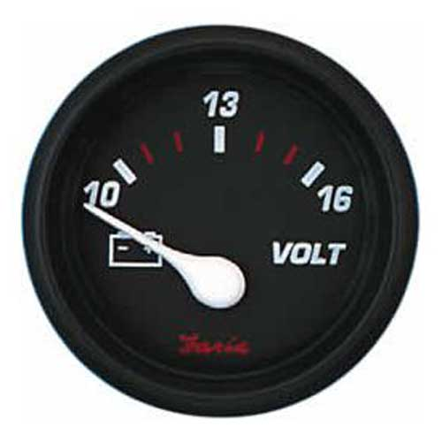 Faria Instruments Voltmeter - Professional Red - 10-16 vDC