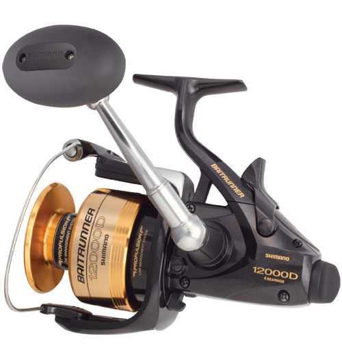 12000 BaitRunner D, 350/16lb. Yds./Test, 4.4:1 Gear Ratio, 30oz.