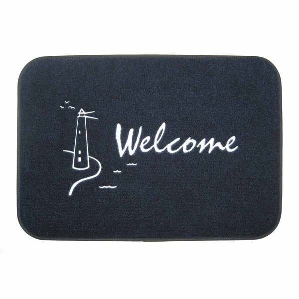 Cape Hatteras Marine Welcome Lighthouse Mat Sale $29.99 SKU: 11107745 ID# 2417GLH UPC# 693497241751 :