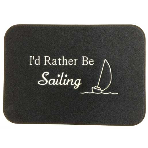 Cape Hatteras Marine Rather Be Saling Mat Sale $29.99 SKU: 11107760 ID# 2417RBS UPC# 693497241768 :