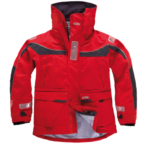 Gill Men's OS1 Foul Weather Jacket Gray/red Sale $595.00 SKU: 11130523 ID# OS11RL UPC# 613996222778 :