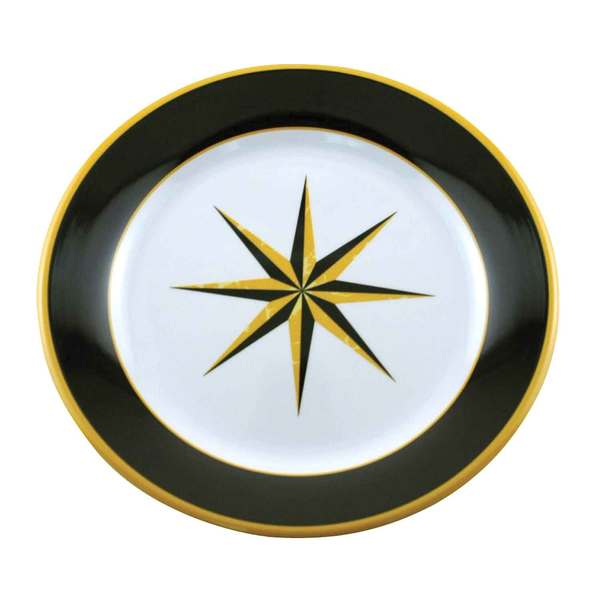 Galleyware Black Compass Salad Plate Sale $8.29 SKU: 11163185 ID# 1160 UPC# 650620011797 :