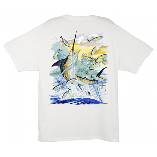 Men's Island Marlin SS Tee - White - M