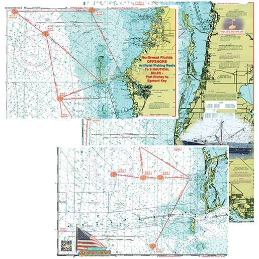 Coastal Charts Northwest Florida Offshore 2 Page Custom Chart