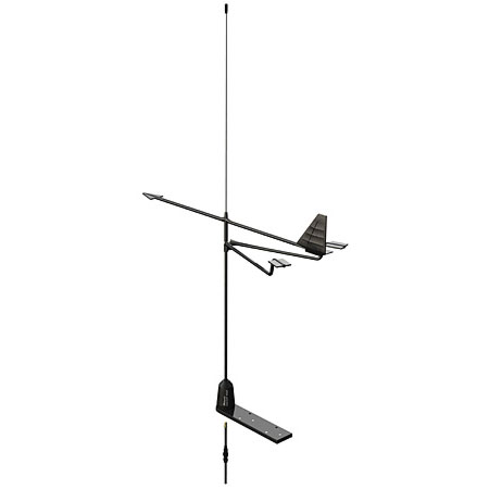 3' Galaxy Stainless Steel Mast Antenna and Wind Vane