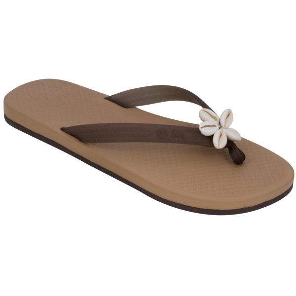 Ocean Minded Women's Charm Meilani Flip Flops, Tan, 6