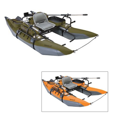 Colorado XT Pontoon Boat, Sage/Gray