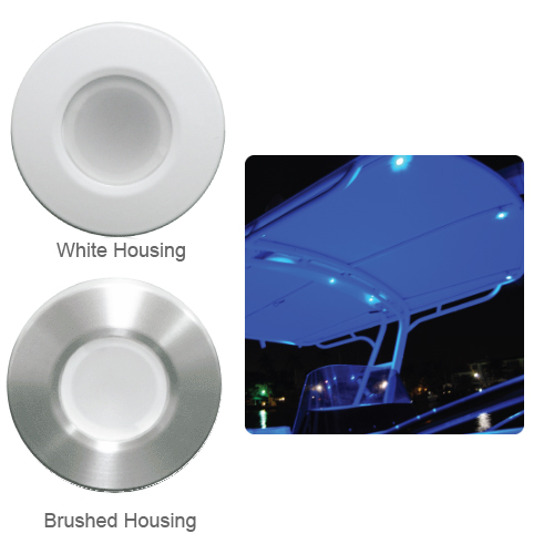 Lumitec Lighting Orbit Flush-Mount Down Light, Blue/White with Dimming, Brushed Housing Sale $99.99 SKU: 11242575 ID# 112501 UPC# 89300103253 :