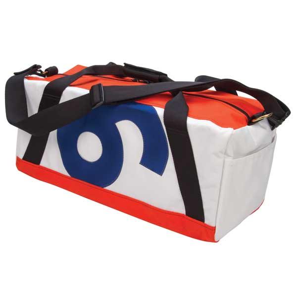 Ella Vickers Original Sail Duffel, Orange Trim with Orange/blue Number Sale $199.99 SKU: 12250528 ID# OSDM-85 UPC# 896702001571 :