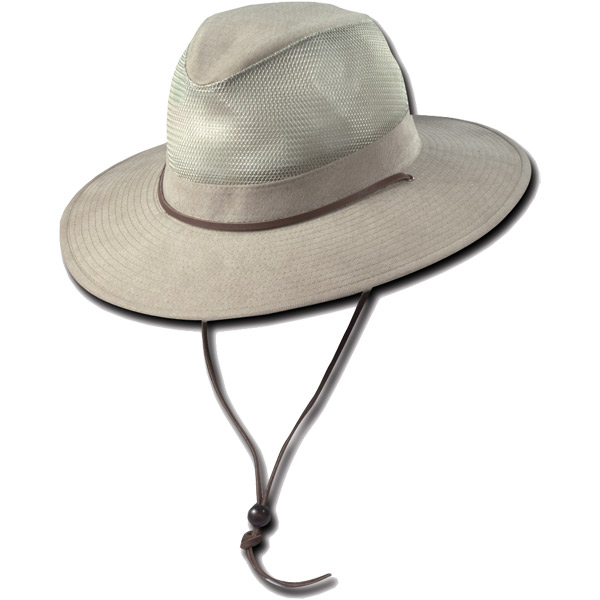 Dorfman Pacific UV Trail Blazer Hat - Tan - M