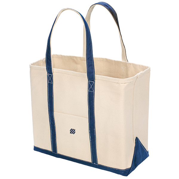 Large Canvas Tote, Navy Trim