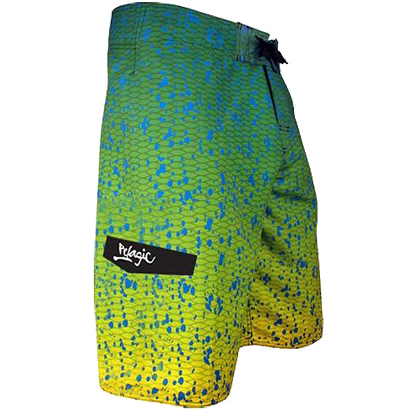 Men's Dorado Board Shorts, Green, 34