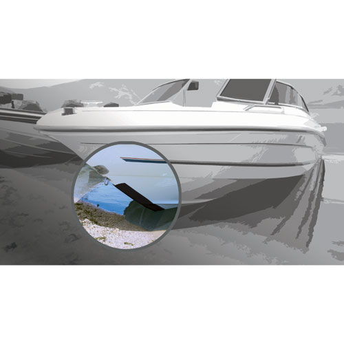 Megaware Keelguard 6' KeelGuard Protection Strip, for 17'-18' Boat Length, Gray
