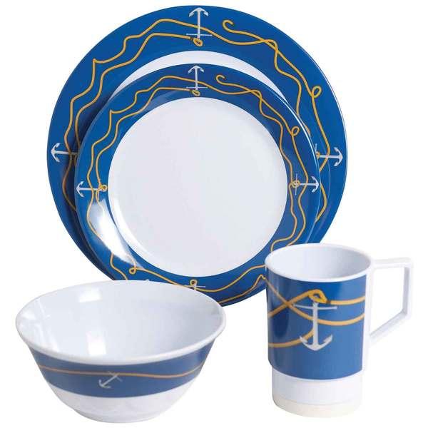 Galleyware Anchorline 16 Piece Dinnerware Set