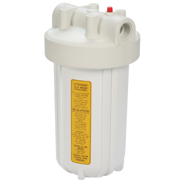 Yacht Mate Water Filter, White Sump/White Top, 7 1/2 Dia., 14High