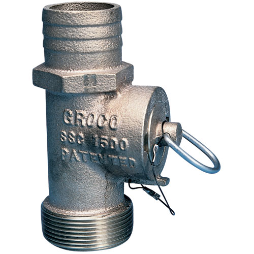 Groco Safety Seacock Conversion, 1-1/2 Thread NPT, 1-1/2 Hose ID