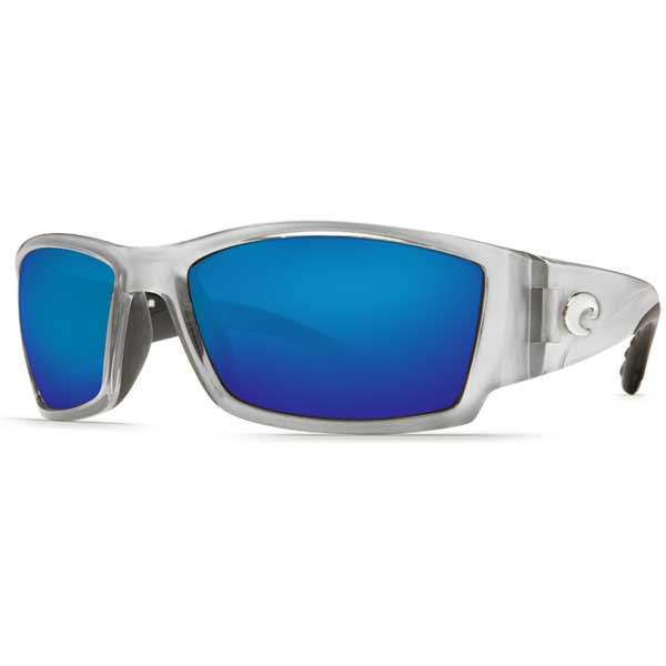Corbina Sunglasses, Silver Frames with Costa 580 Blue Mirror Glass Lenses