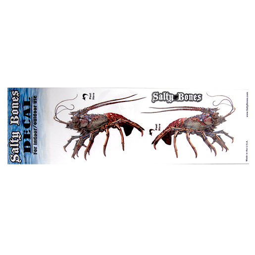 Marine Sports Lobster Salty Bones Decal, Two Pack