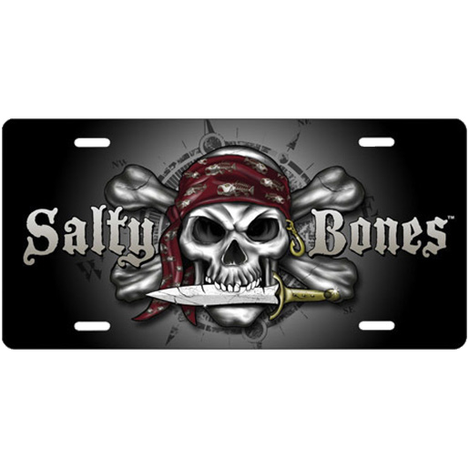 Marine Sports Salty Bones License Plate Sale $15.99 SKU: 11828407 ID# 4906-60 UPC# 806723906601 :
