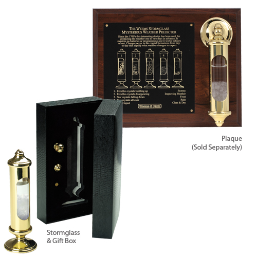 Weems & Plath Brass Stormglass Plaque Only