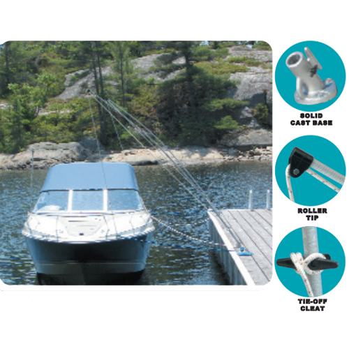 Dock Edge Dock-Side Premium 16' Mooring Whip, for Boats Up to 33', 20,000lb. capacity