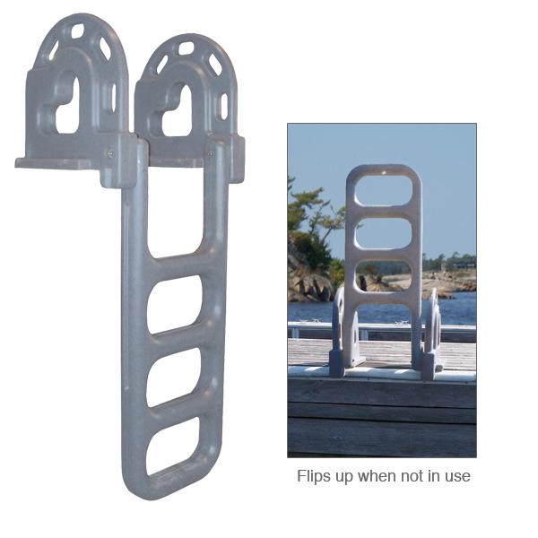 Dock Edge Polyethylene Flip-Up Dock Ladder