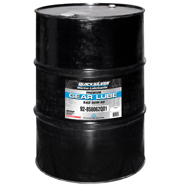Mercury Marine Quicksilver Premium Gear Lube - 55 Gal. Sale $1699.99 SKU: 11882925 ID# 858062Q01 UPC# 745061038967 :