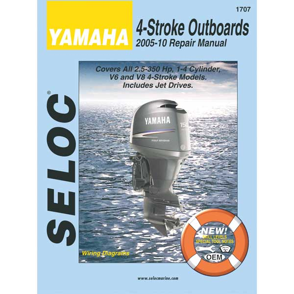 Seloc Marine Yamaha 4 Stroke, Outboards, 2005-10 Repair Manual